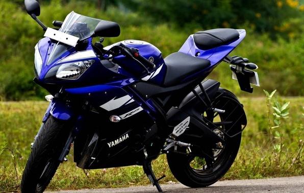 Картинка фото, Yamaha, спортбайк, Ямаха, 2014, Р15, R15