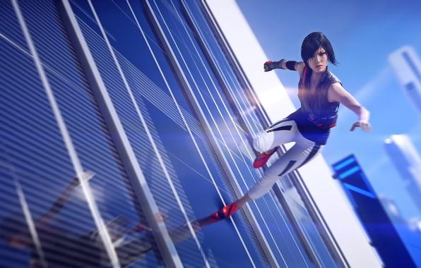 Картинка Девушка, Electronic Arts, DICE, Faith, Фейт, EA DICE, Catalyst, Mirrors Edge: Catalyst