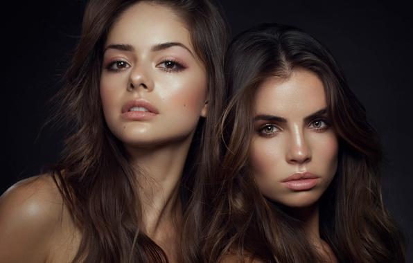 Картинка портрет, две девушки, California Girls