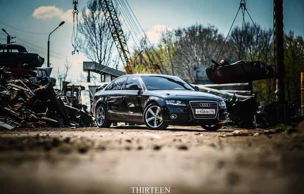 Картинка машина, авто, Audi, седан, диски, бампер, auto, sedan, Курск