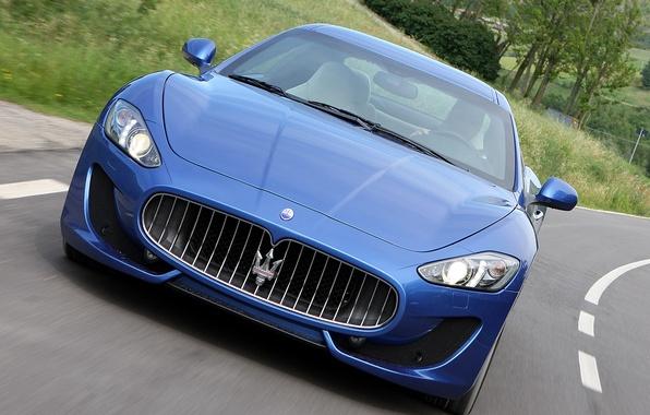 Картинка дорога, Maserati, GranTurismo, мазерати, передок, Sport