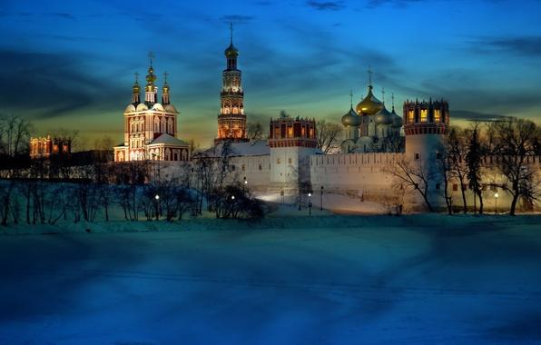 Картинка light, moscow, cold, monastery, novodevichy