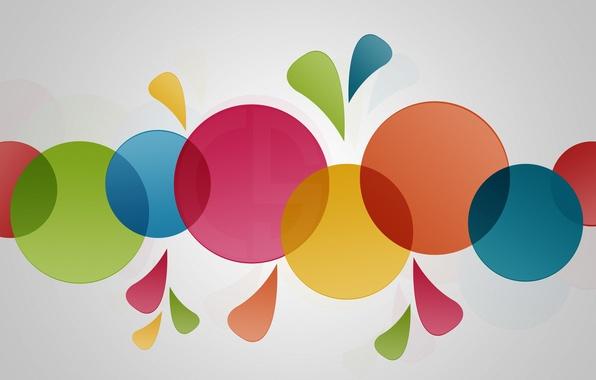 Картинка цвета, круги, минимализм, Colorfull Wallpaper