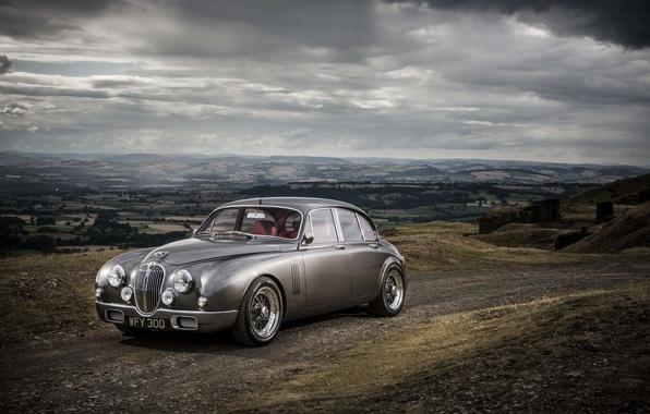Картинка фото, серый, Jaguar, автомобиль, Ian Callum, Mark 2 b