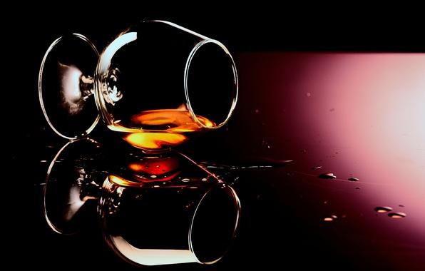 Картинка стекло, капли, фон, бокал, алкоголь, напиток, коньяк