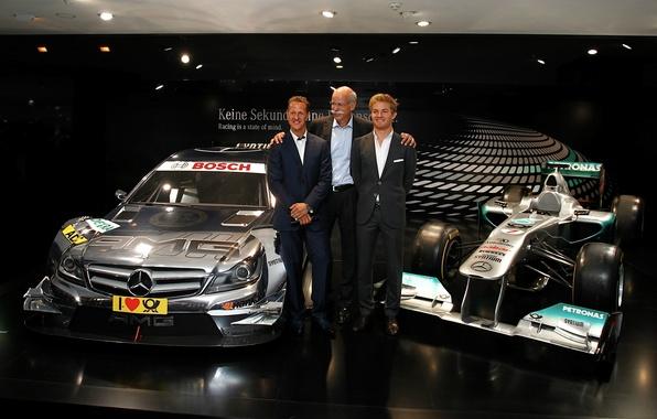 Картинка Mercedes-Benz, Мерседес, AMG, Michael, DTM, Шумахер, Купе, Schumacher, Nico, ДТМ, Rosberg, Cupe