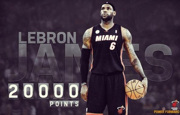 Картинка Мяч, Спорт, Баскетбол, Тату, NBA, LeBron James, Miami Heat, Игрок