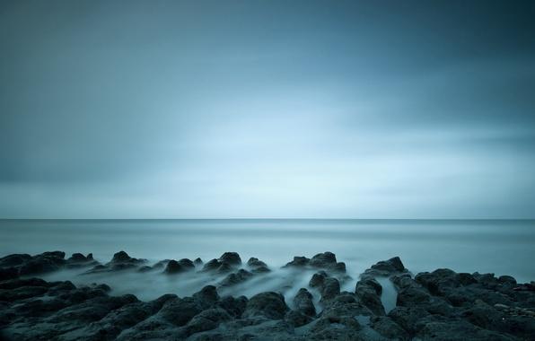 Картинка горизонт, Италия, Italy, blue sky, голубое небо, horizon, Lazio, Ladispoli, Лацио