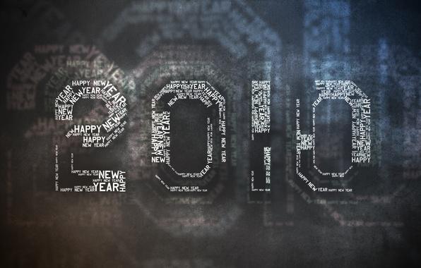 Картинка темный, Новый год, 2010