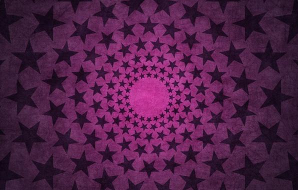 Картинка звезды, круги, розовый, звезда, текстура, зведочки