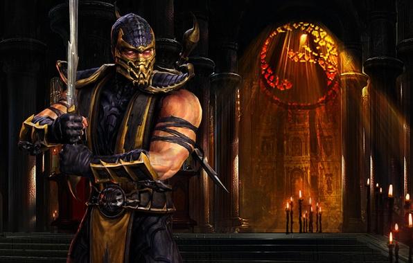 Картинка Скорпион, нинзя, Mortal Kombat