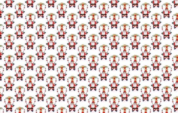 Фото обои Санта Клаус, звезда, Дед Мороз, Новый год, фон, текстура, праздник