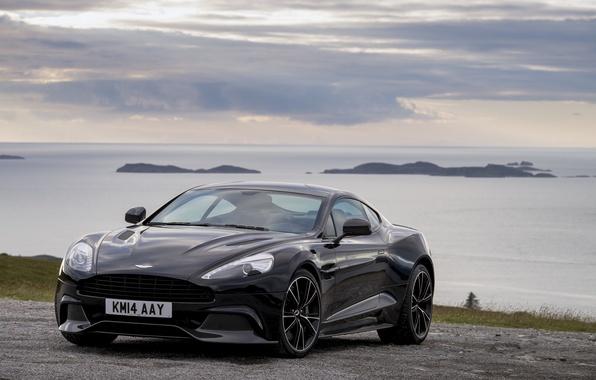 Картинка Aston Martin, астон мартин, Vanquish, ванквиш, 2014, Carbon Black