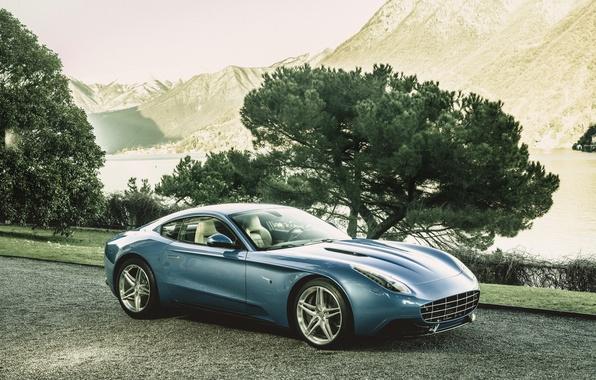 Картинка фото, Голубой, Ferrari, Автомобиль, Berlinetta, Touring, 2015, Lusso, Роскошный, Carrozzeria