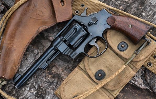 Картинка оружие, револьвер, кобура, 1917