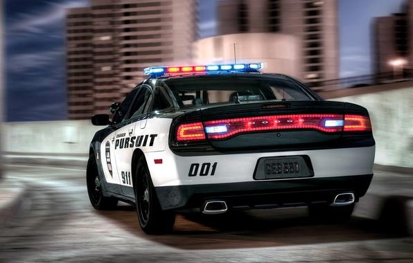 Картинка Машина, Додж, Desktop, Car, Автомобиль, Beautiful, Police, Wallpapers, Чарджер, Обоя, Полицейская, Dodge Charger Pursuit