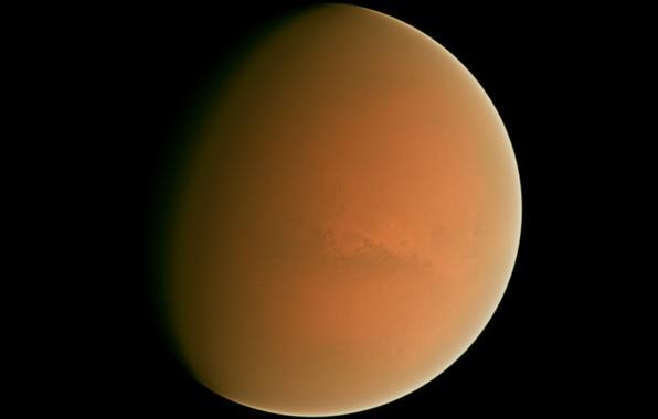 Картинка космос, поверхность, планета, марс, орбита