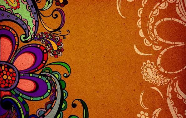 Картинка рисунок, текстура, индийский узор