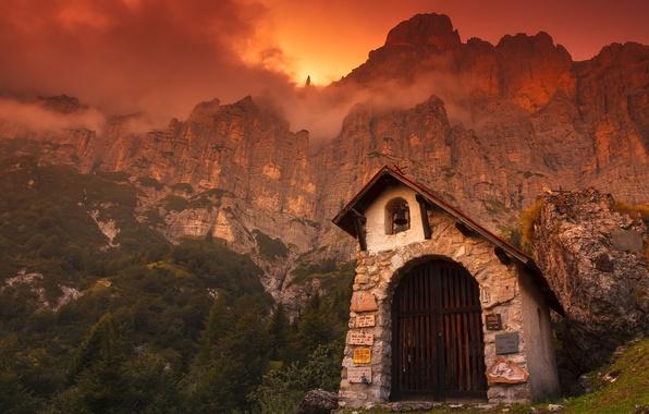 Картинка Italy, Dolomites, Under Mt. Shiara
