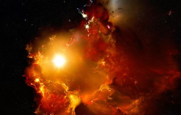Картинка космос, звезды, туманность, сияние, вселенная, звезда, галактика