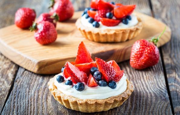 Картинка еда, черника, клубника, торт, фрукты, крем, десерт, fruit, сладкое, strawberry, blueberry, cream, dessert, tart