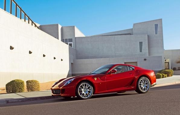 Картинка Ferrari, феррари, красная, GTB, 599