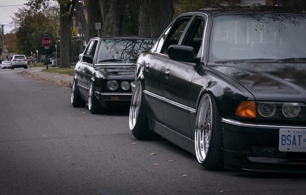 Картинка BMW, tuning, stance, E28, E38