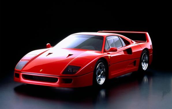 Картинка красный, Ferrari, F40