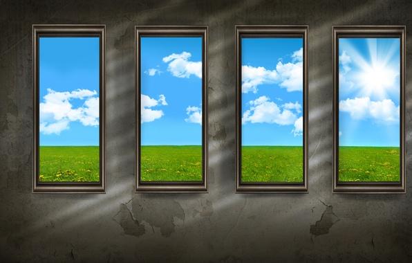 Картинка стиль, стена, стены, окна, минимализм, windows, walls