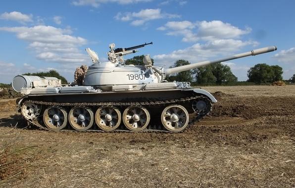 Картинка танк, бронетехника, советский, средний, Т-55