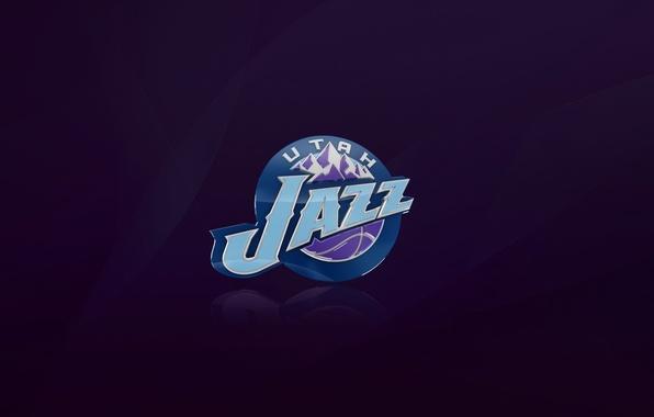 Картинка Баскетбол, Фон, Юта, Логотип, Фиолетовый, NBA, Utah Jazz, Джаз