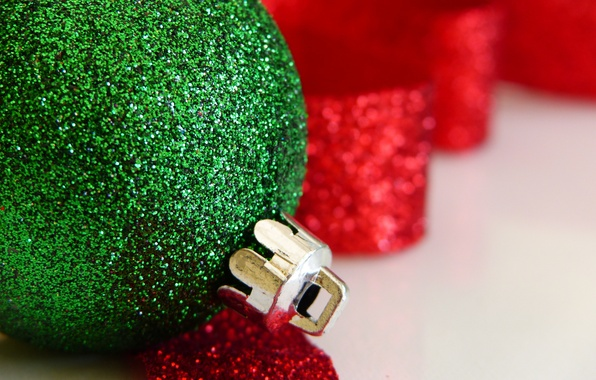 Картинка макро, игрушка, новый год, рождество, шарик, украшение