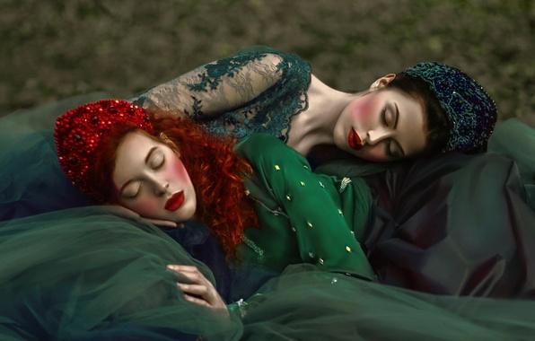 Картинка фатазия, сон, арт, две девушки, Agnieszka Lorek