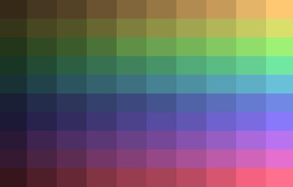 Картинка абстракция, краски, цвет, радуга, объем