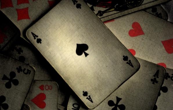 Картинка карты, серый, покер