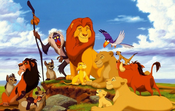 Картинка обезьяна, тимон, король лев, пумба, нала, симба, тимон и пумба, гиены