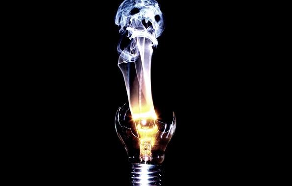 Картинка лампочка, дух, спираль