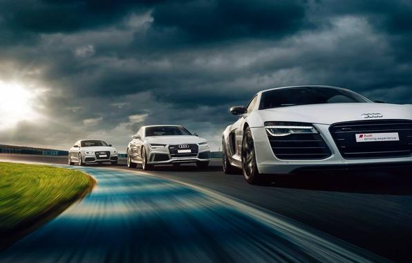 Картинка Audi, Cars, RS5, Sun, Day, Track, Drive, RS7, Experience