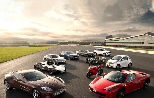 Картинка Aston Martin, Mercedes-Benz, Porsche, BMW, Ferrari, Land Rover, Morgan, BAC