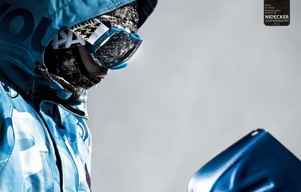Картинка сноуборд, маска, snowboard, goggles, nidecker
