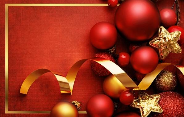 Картинка украшения, праздник, шары, Новый Год, Рождество, red, Christmas, balls, Xmas, decoration, New year, Merry