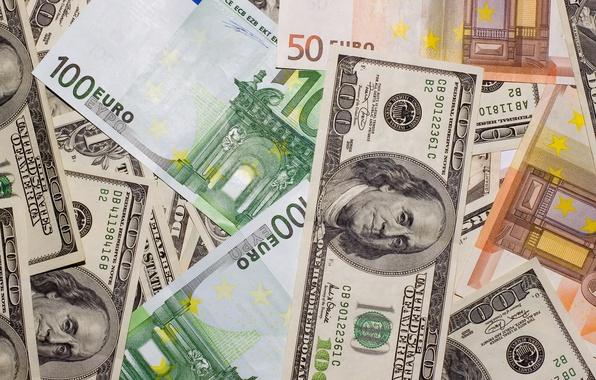 Картинка деньги, евро, доллары, money, dollars, euro