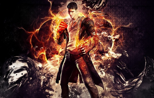 Картинка demon, wallpaper, кулаки, данте, dante, devil may cry 5, Dmc, Eryx