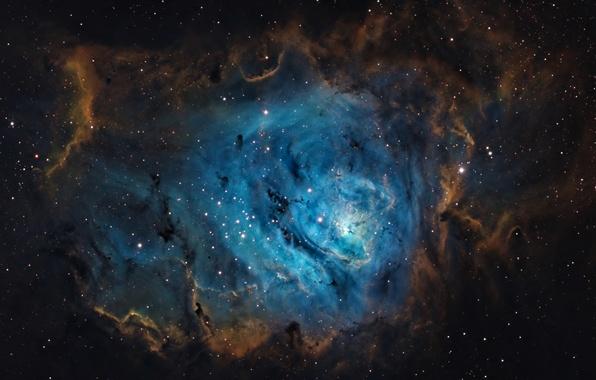 Картинка космос, пространство, звёзды, Лагуна, Туманность, созвездие, мироздание, (M8)