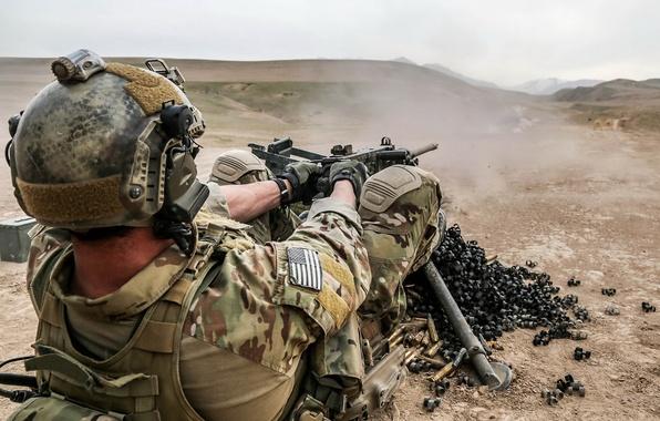 Картинка Afghanistan, machine gun, United States Spec Ops