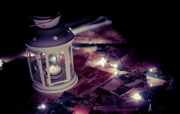Картинка свет, воспоминания, фон, widescreen, обои, свеча, фонарик, фонарь, фотографии, wallpaper, разное, свечка, широкоформатные, background, полноэкранные, ...