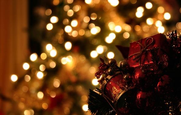 Картинка украшения, огни, фото, настроение, праздник, волшебство, обои, игрушки, новый год, рождество, вечер, ёлка, гирлянды, картинка