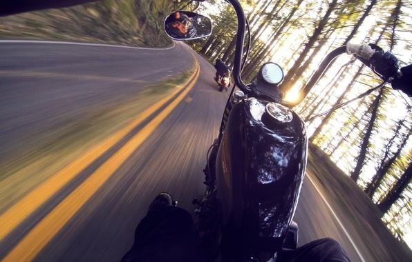 Картинка дорога, мотоциклы, драйв, скорость, мот