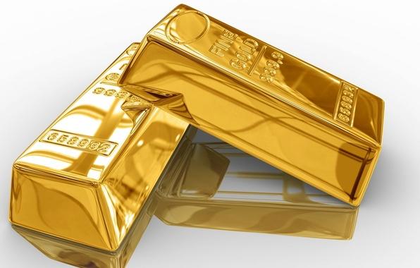 Картинка фон, золото, блеск, слитки