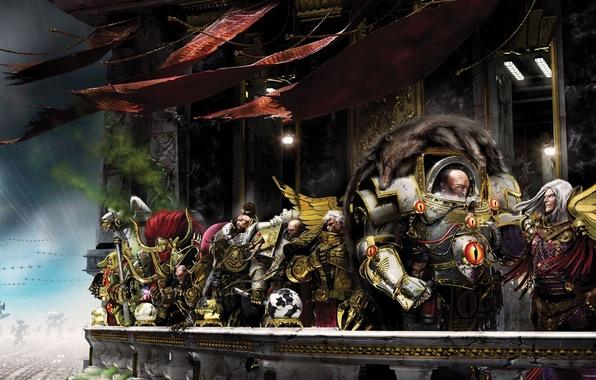 Картинка Neil Roberts, Warhammer 40 000, Jaghatai Khan, Angron, Magnus the Red, warhammer 40K, Horus, Fulgrim, …